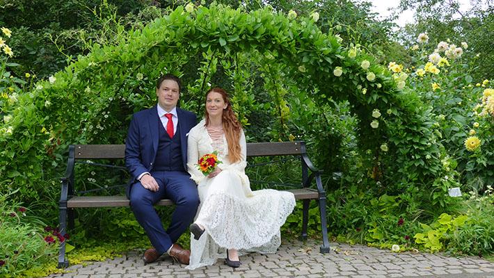 bröllop på botaniska föreningen Göteborg