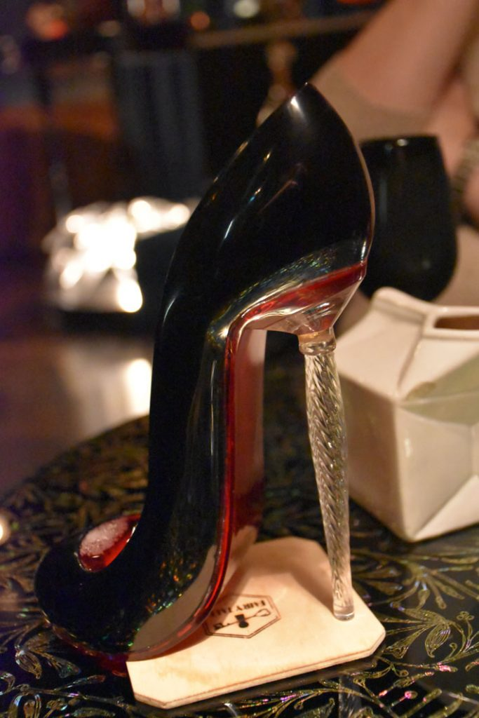 Cinderalla cocktail in a shoe